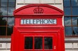 Telephone booth in London UK