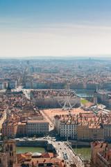 Top View of Lyon