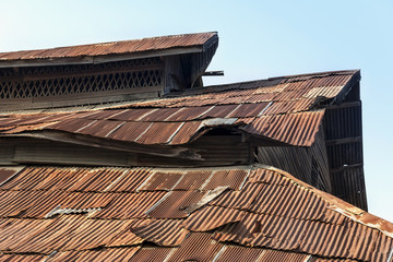 Old rusty roof