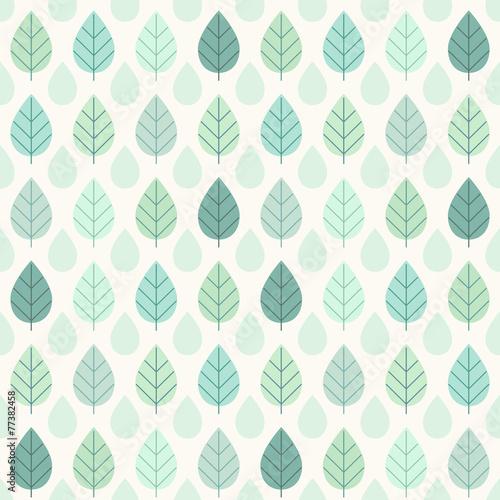 Plexiglas Retro Tree leaves