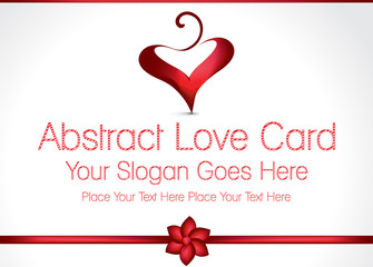 Abstract Love Card Design Illustration