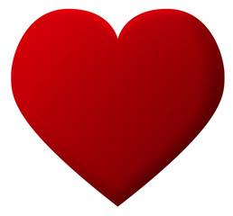 cœur rouge amoureux st valentin