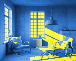 art-style interior  (3d concept)