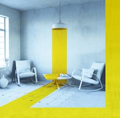 conceptual interior  (3d concept)
