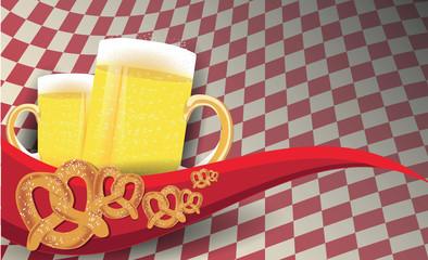 Birra con pretzel