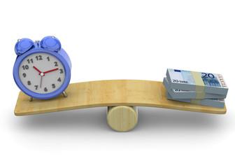 Time is Money Concept - 3D