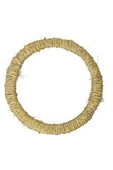 Round photo frame braided jute yarn.