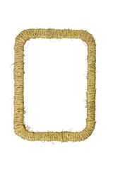 Rectangular photo frame braided jute yarn.