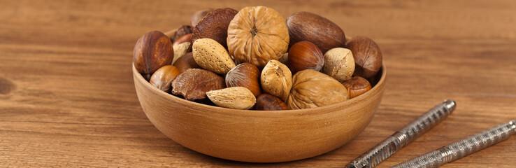 Nuts mix. Selective focus.