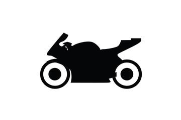 black motorcycle  isolated on white