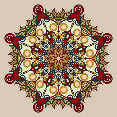 vintage circular pattern of arabesques