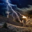 Lightning strikes fortress
