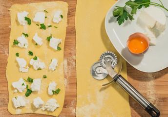 Sfoglia di pasta fresca per ravioli