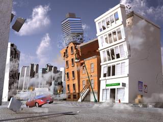 Terremoto en una ciudad