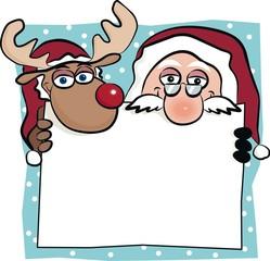 Santa & Rudolf banner