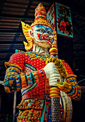 Thailand, Thai Warrior, Close-up view