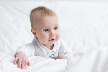 Italy, Veneto, Padua, Portrait of cute baby boy (6-11 months)