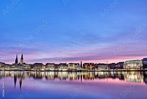 Leinwanddruck Bild Alster in Hamburg