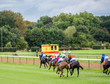 Unidentified riders, race on the racecourse, Germany, Magdeburg