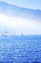 sailboats on Lake Como
