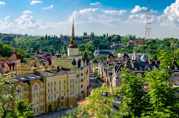Ukraine, Kyiv, Cityscape on sunny day