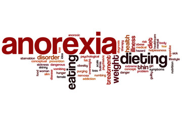 Anorexia word cloud