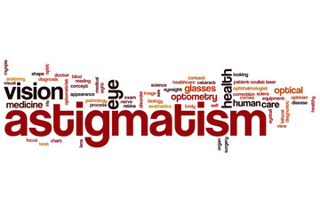 Astigmatism word cloud