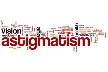 Astigmatism word cloud
