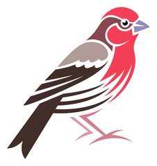Stylized Bird - House Finch