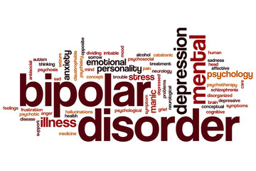 Bipolar disorder word cloud