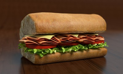 Submarine Sandwich Half