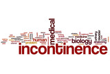 Incontinence word cloud