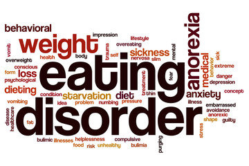Eating disorder word cloud