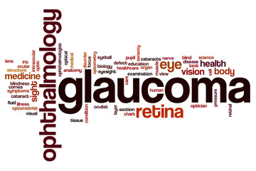 Glaucoma word cloud
