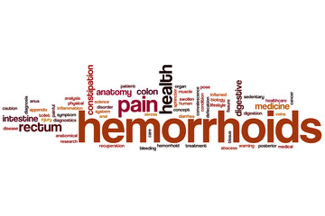 Hemorrhoids word cloud