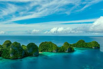 Indonesia, West Papua, Papua, Raja Ampat, Wayag, Small islands on sea