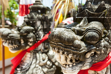 Indonesia, Bali, Temple dragon