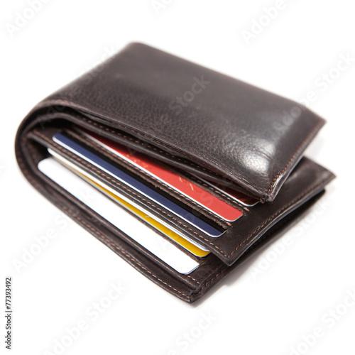 portefeuille et carte de crédit - 77393492