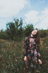 Russia, Girl (14-15) in long dress