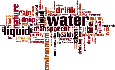 Water word cloud concept. Vector illustration