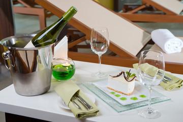 desert and wine