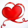 Herz mit herförmiger Schleife