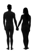 Young adult nude couple