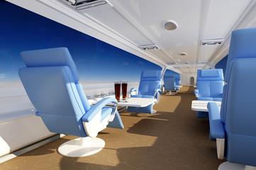 Interior passenger aircraft.