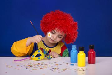 Vorbereitung, Karneval, kleines Kind, Vorfreude