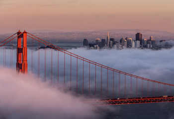 USA, California, San Francisco, Golden Gate and city