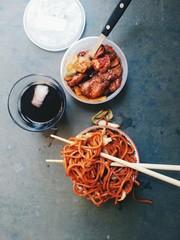 Studio shot of chinese food