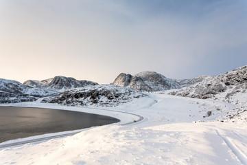 Norway, Finnmark, Ytre Sortvik , Scenic view of landscape