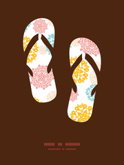 Vector abstract decorative circles stars flip flops silhouettes