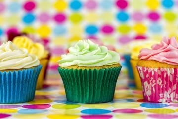 Multi colored muffins